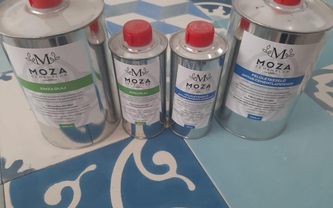 MOZA által ajánlott cementlap felületkezelőszerek